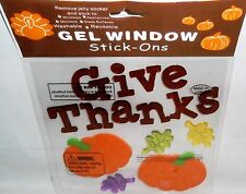 Fall /Halloween Window Gels  GIVE THANKS  PUMPKINS AND LEAVES