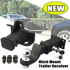 Tow Trailer Hitch Receiver Bar w/ Hitch Lock For Land Rover Discovery LR3 LR4