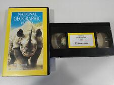 EL RINOCERONTE - VHS TAPE CINTA NATIONAL GEOGRAPHIC
