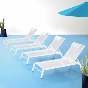 Cascio Reclining Sun Lounger with Cushion