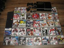 SONY PLAYSTATION 3 FAT 160GB PS3 CONSOLE 35 GAMES CONTROLER Camera CECHH01