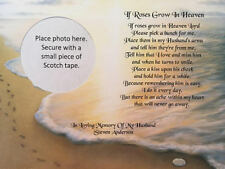 In Memory of Husband Sympathy Gift Memorial Day Footprints Gift Religious Gifts