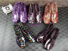 Girls Fashion Womens Purple Rain Ankle Boots Floral Waterproof Slip On shoes