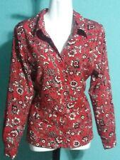 Notations Women's  Blouse Size Medium. Floral &  Paisley Button Up Front