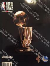 2018 NBA FINALS CHAMPION PROGRAM GOLDEN STATE WARRIORS CLEVELAND CAVALIERS