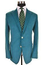 NWT Samuelsohn Barker Turquoise Cotton Corduroy Sport Coat Jacket 42 R NEW