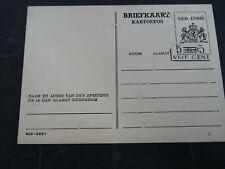 Nederlands Indië G 76 b-z-1 ongebruikt verschoven opdruk, breuk in T, adreslijn