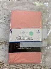 NWT Mainstays 200 Thread Percale 2 King Pillowcase Pearl Blush Pink