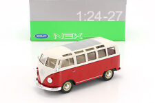 WELLY 1:24 - 27 VOLKSWAGEN T1 BUS  1963 RED - WHITE  ROSSO - BIANCO  ART 22095SG