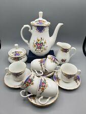 "17-Piece Vintage Floral Flower Czech THUN TK Czechoslovakian TEA SET --""NATALIE"""