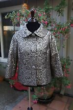 Brown gold brocade  3/4 sleeves jacket - size M 1960 style
