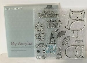 CTMH WHAT A HOOT Owl Halloween Rubber Stamps Set