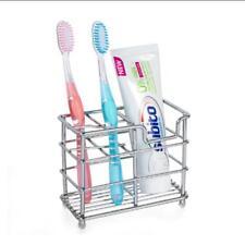 Stainless Steel Toothpaste Toothbrush Holder Case Stand Bathroom Razor Organizer
