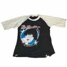 """Vintage Pat Benatar """"1981"""" Raglan T-Shirt Concert Tour Billy Idol Madonna 80's"""