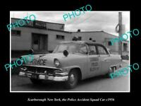 OLD LARGE HISTORIC PHOTO OF SCARBOROUGH NEW YORK THE POLICE SQUAD CAR c1956