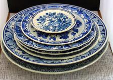 sieben schöne Keramik-Teller wohl Holland