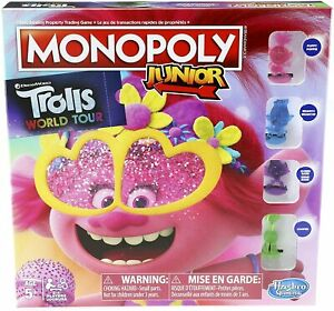 Monopoly Junior - DreamWorks Trolls World Tour Edition - 2 to 4 Players -