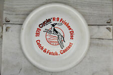 VINTAGE 1979 CYCLE K9 FRISBEE DISC CATCH & FETCH CONTEST RETRO COOL WHAM-O AD