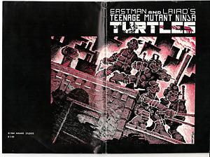 """TEENAGE MUTANT NINJA TURTLES """"MEGA RARE"""" #1 (1984) 1st PRINT MIRAGE STUDIOS TMNT"""