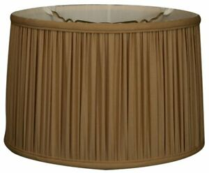 Shallow Drum Gather Pleat Lamp Shade