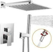Besy Shower System with 12 Inch Rain Shower Head and Handheld Wall Mounted *New*