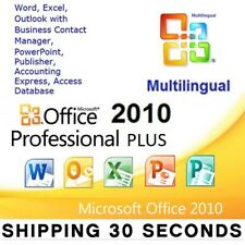 Microsoft Office 2010 Professional Plus - 32/64 bit  - Multilanguage - Original