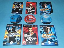 3x JAMES BOND 007   game bundle for PS2 PAL*Complete*Free UK P&P