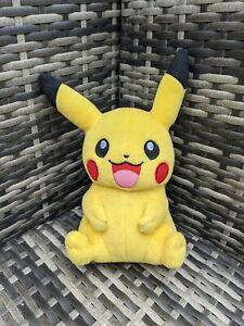 "Official Pokémon Tomy Happy Pikachu Soft Toy Plush 9"" Nintendo"