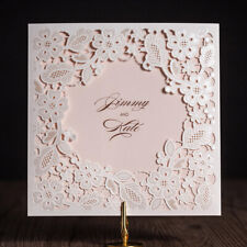 Personalized Printing Laser Cut Floral Wedding Shower Invitation Card Envelope
