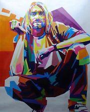 Kurt Cobain, Pop Art oil Painting On Canvas, Musical  Nirvana