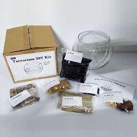 DIY Terrarium Kit (LARGE) with Glass bowl, Decor, Instructions, etc - Gift