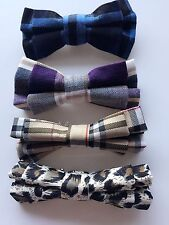 Baby Boys Kids Children Party School Check Wedding bow tie Necktie bowtie Pin
