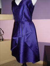 NWOT Lela Rose Style LR187 V-neck cocktail dress with high-low hem  SZ 10 Grape