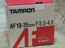 Tamron 19-35mm F/3.5-4.5 AF Wide Angle Lens for Canon film and digital new