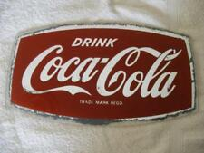 Genuine Old Coca Cola coke advertising glass mirror collectible 1950's 1960's