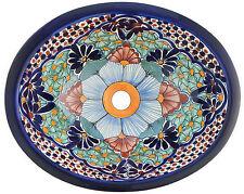 "Talavera Drop In 17x14"" Mexican Ceramic Sink # 15"