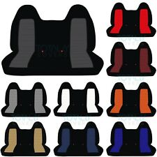 92-04 Ford F-150/F-250/F-350 2-Tone Front/Rear Solid Bench Truck Seat Covers