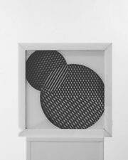1970 escultura cinética Op Art artista de Chicago interiores de Blanco y Negro