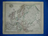 Antique 1829 Butler's Atlas Map ~ EUROPE ~ Old Authentic ~ Sidney Hall