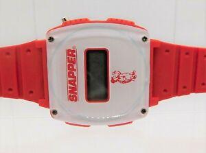 Snapper Sam Lawn Digital Wrist Watch Red White Turtle