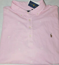 New Men's Polo Ralph Lauren Knit Oxford All Over Palm Trees Polo Shirt 4XLT Tall