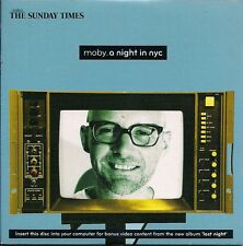 Moby A Night In NYC Issued with The Sunday Times cardboard sleeve UK CD