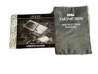 Sega Genesis Sega CD Instruction Manual Users Guide Only