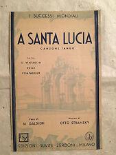 SPARTITO MUSICALE A SANTA LUCIA DAL FILM IL VENTAGLIO DELLA POMPADOUR 1931
