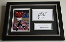 Viv Anderson Signed A4 FRAMED photo Autograph display Manchester United & COA