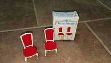 1964 Ideal Petite Princess Hostess Dining Chairs Antique Finish Set