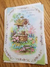 Vtg. Unused Rust Craft Get Well Card-Cute Angels Flock At Wishing Well