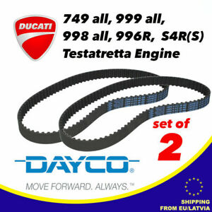 SET OF 2 DAYCO Timing Belts For DUCATI Testastretta Engine 89 x 21