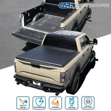 For 07-21 Toyota Tundra 6.5FT Standard Bed Soft Blk Vinyl Roll Up Tonneau Cover