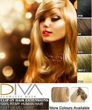 "Clip In Remy 100% Real Human Hair Extensions Long Full Head 8 Piece 18"" 20"" 22"""